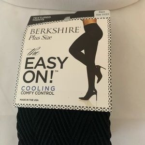 3 for 18 Textured tights black 1X/2/X
